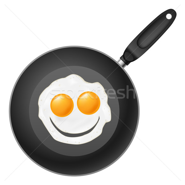 Frying pan with smile egg Stock photo © dvarg