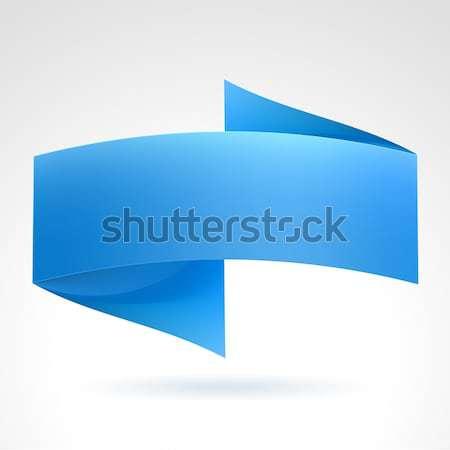 синий баннер волна иллюстрация белый дизайна Сток-фото © dvarg