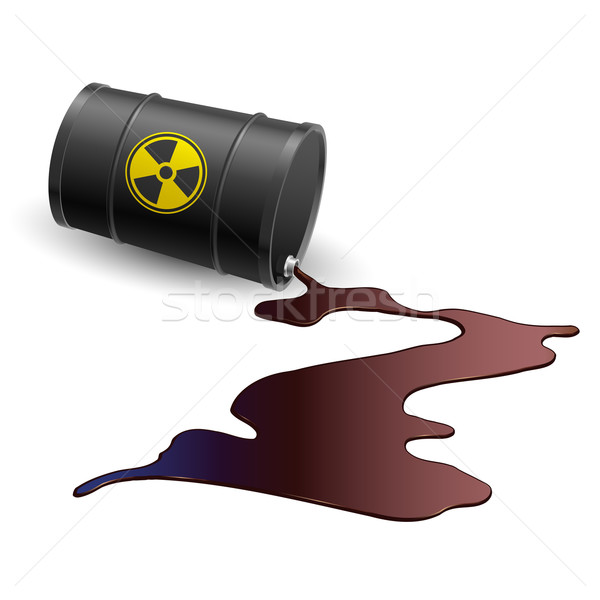 Barrel with toxic liquid Stock photo © dvarg