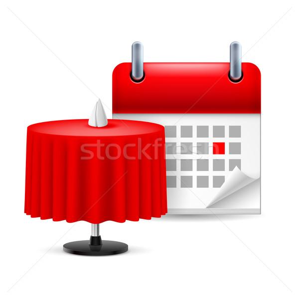 Restaurant table and calendar Stock photo © dvarg