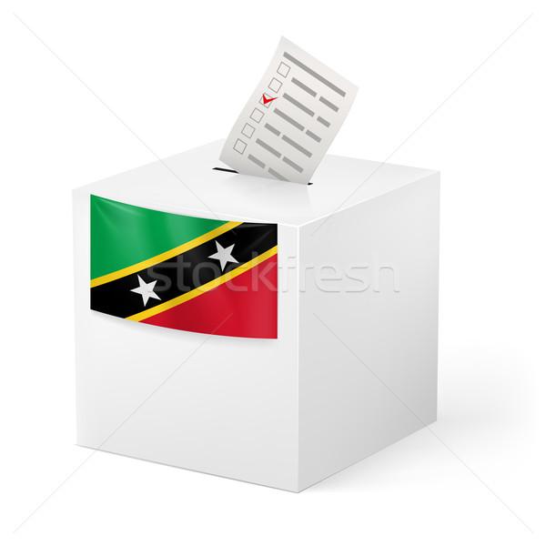 Scrutin boîte papier saint élection Photo stock © dvarg