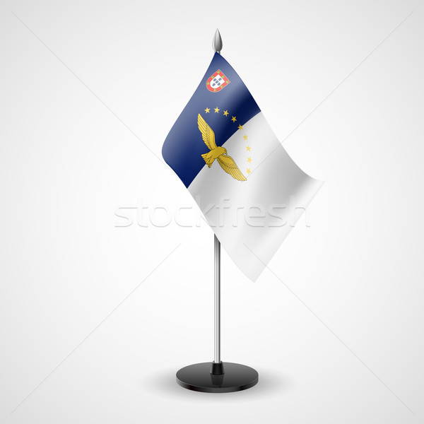 Table flag of Azores Stock photo © dvarg