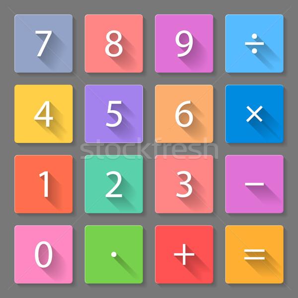 Set of calculator flat icons Stock photo © dvarg