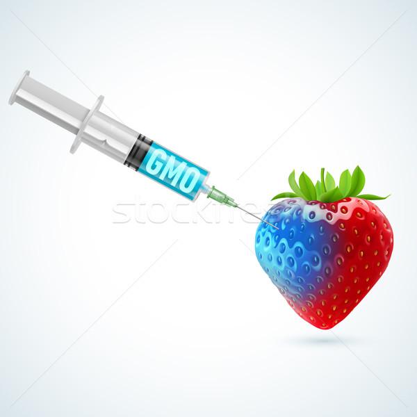Strawberry with GMO Stock photo © dvarg