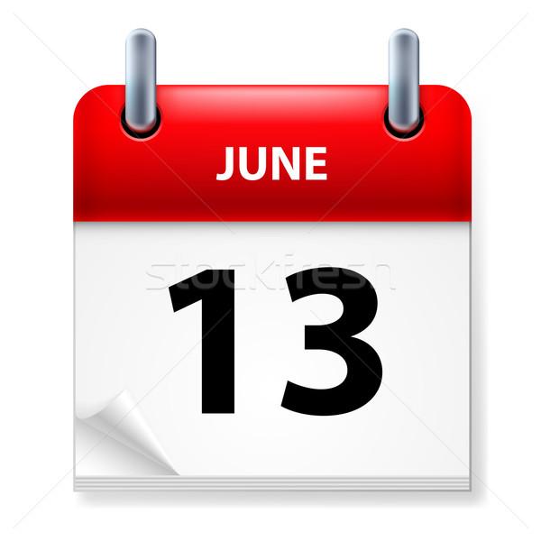 Kalendarza ikona biały papieru projektu tle Zdjęcia stock © dvarg