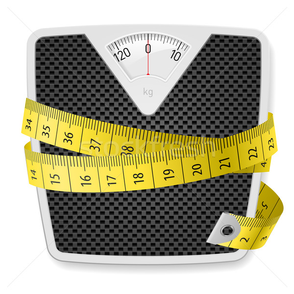 Gewichten meetlint illustratie witte lichaam ontwerp Stockfoto © dvarg