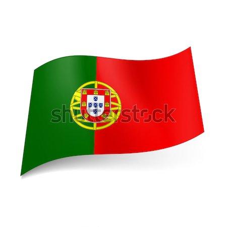 Pavillon Portugal bras rouge vert monde Photo stock © dvarg