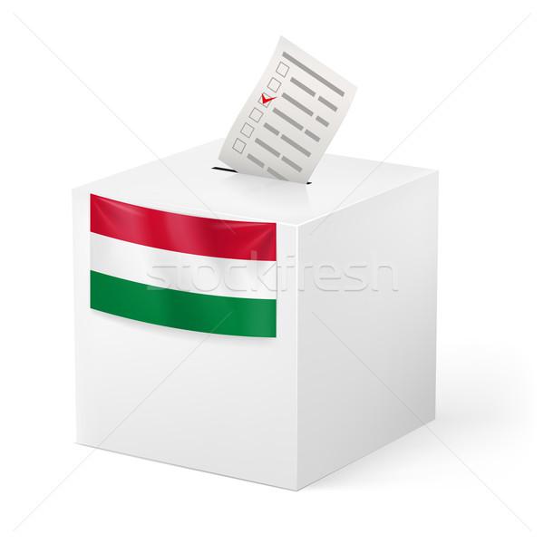 Scrutin boîte papier Hongrie élection Photo stock © dvarg