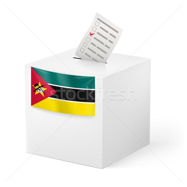 Oylama kutu kâğıt Mozambik seçim Stok fotoğraf © dvarg