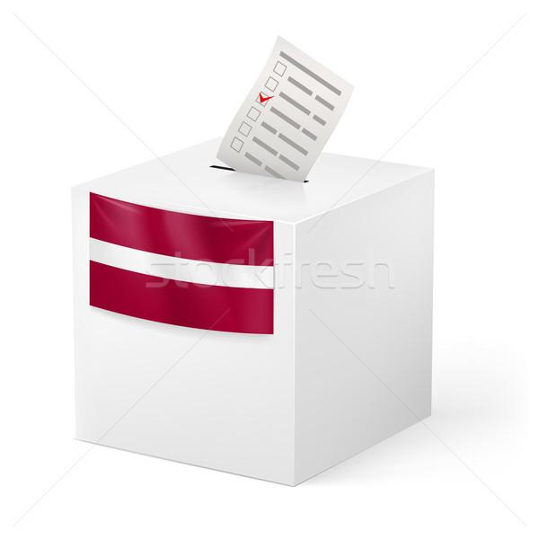 Ballot box with voting paper. Latvia Stock photo © dvarg