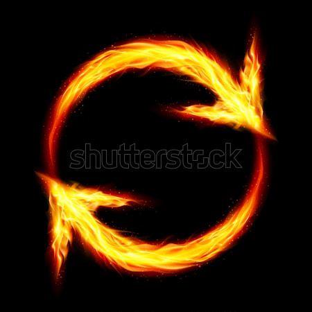 Fire circular arrows Stock photo © dvarg