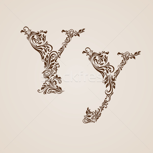 Decorated letter y Stock photo © dvarg