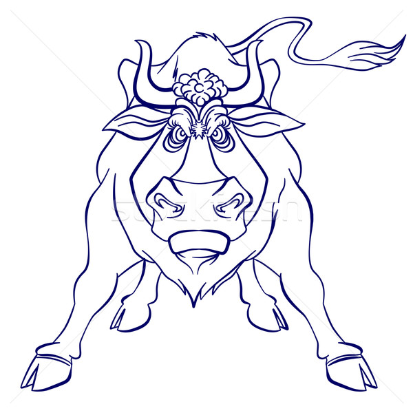 Angry bull Stock photo © dvarg