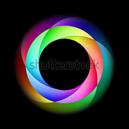 Colorful spiral ring. Stock photo © dvarg