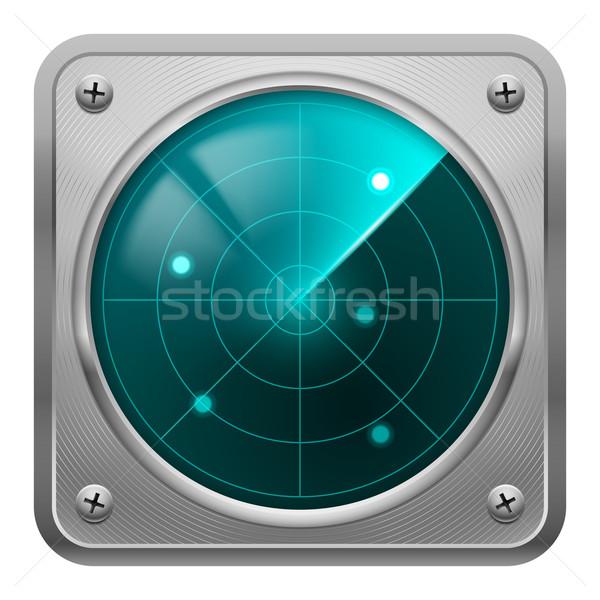 Radar screen in metal frame. Stock photo © dvarg