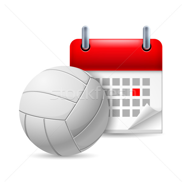 Volleyball and calendar Stock photo © dvarg