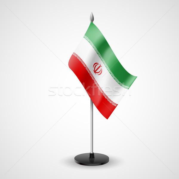 Asztal zászló Irán világ konferencia asztal Stock fotó © dvarg