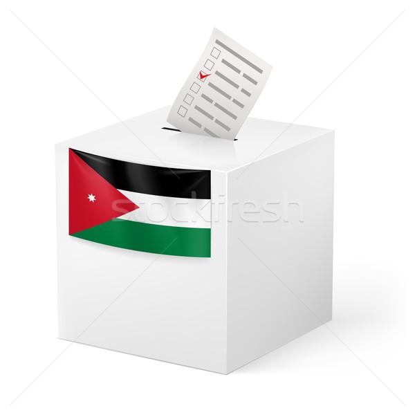 Głosowanie polu głosowanie papieru Jordania wyborów Zdjęcia stock © dvarg