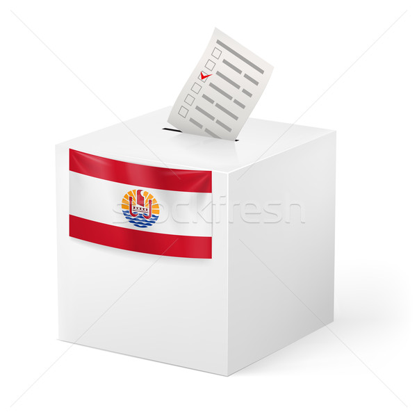 Cédula caixa votação papel francês polinésia Foto stock © dvarg