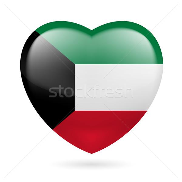 Cuore icona Kuwait bandiera colori amore Foto d'archivio © dvarg