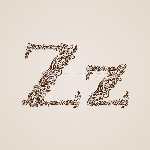 украшенный письмо z снизить случае текстуры письме Сток-фото © dvarg