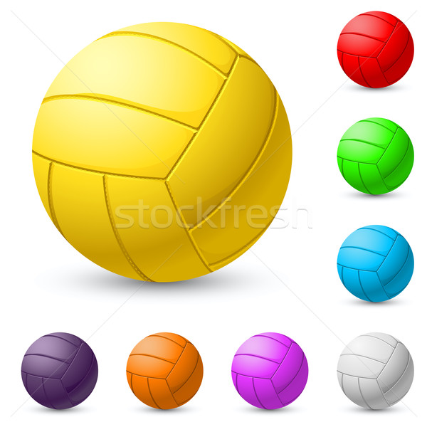 Multi-colored volleyball realiste Stock photo © dvarg