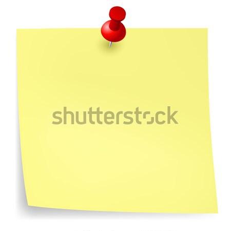 Amarelo adesivo ilustração projeto branco negócio Foto stock © dvarg