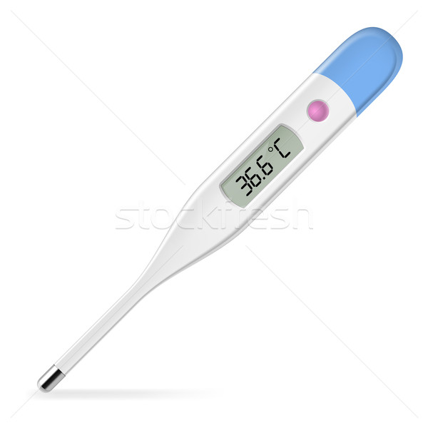 Elektronischen Thermometer Illustration weiß Design Glas Stock foto © dvarg