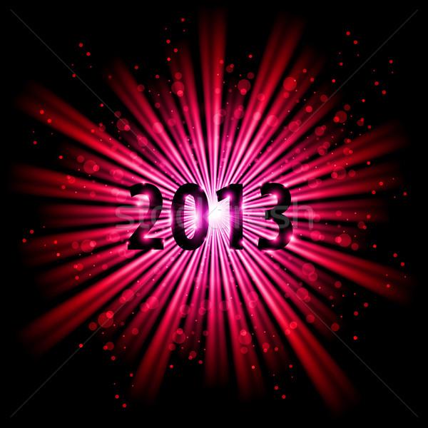 Húsz tizenhárom év piros absztrakt boldog új évet Stock fotó © dvarg