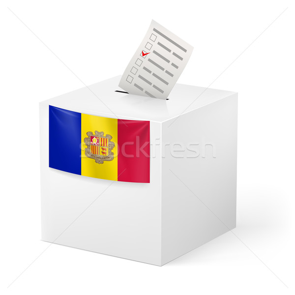 Ballot box with voting paper. Andorra Stock photo © dvarg