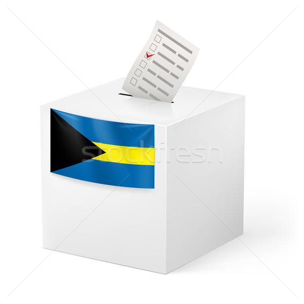 Ballot box with voting paper. Commonwealth of the Bahamas Stock photo © dvarg