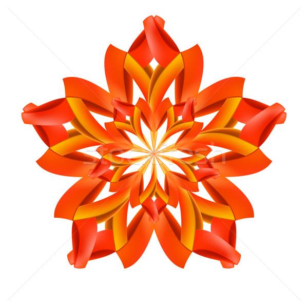 аннотация красный оранжевый шаблон бумаги Сток-фото © dvarg