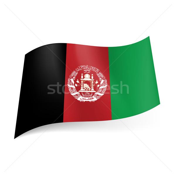 State flag of Afghanistan Stock photo © dvarg
