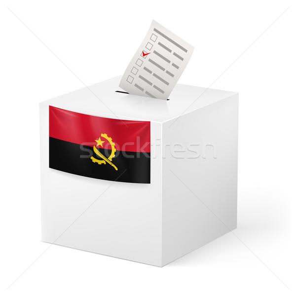 голосование окна голосование бумаги Ангола выборы Сток-фото © dvarg