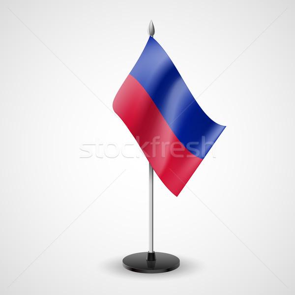 Tavola bandiera Haiti mondo conferenza desk Foto d'archivio © dvarg