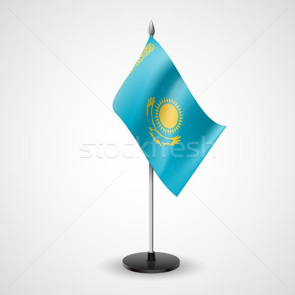 Tabelle Flagge Kasachstan Welt Konferenz Schreibtisch Stock foto © dvarg