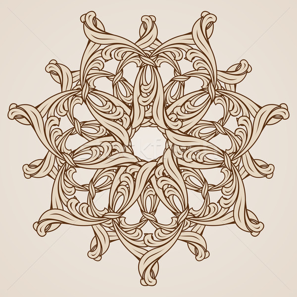 Kwiatowy wzór ilustracja dekoracyjny świetle ciemne Zdjęcia stock © dvarg