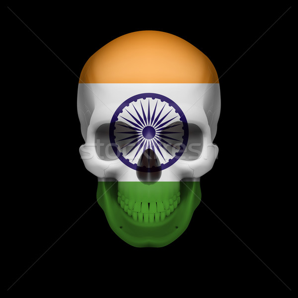 Indian flag skull Stock photo © dvarg