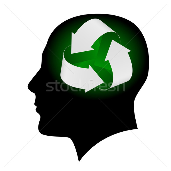 Ecology symbol in human head Stock photo © dvarg