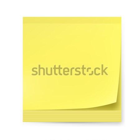 Geel sticker illustratie witte creatieve ontwerp Stockfoto © dvarg