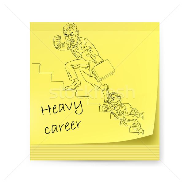 Amarillo etiqueta empresario dos hombre ilustración Foto stock © dvarg