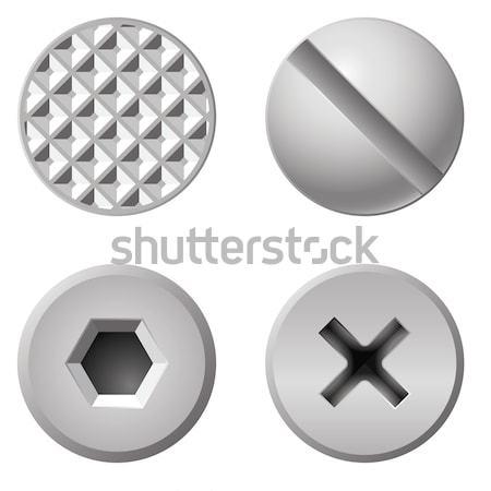 Quatre différent blanche matériel Photo stock © dvarg