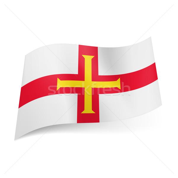 Flag of Guernsey Stock photo © dvarg