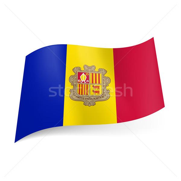 State flag of Andorra Stock photo © dvarg