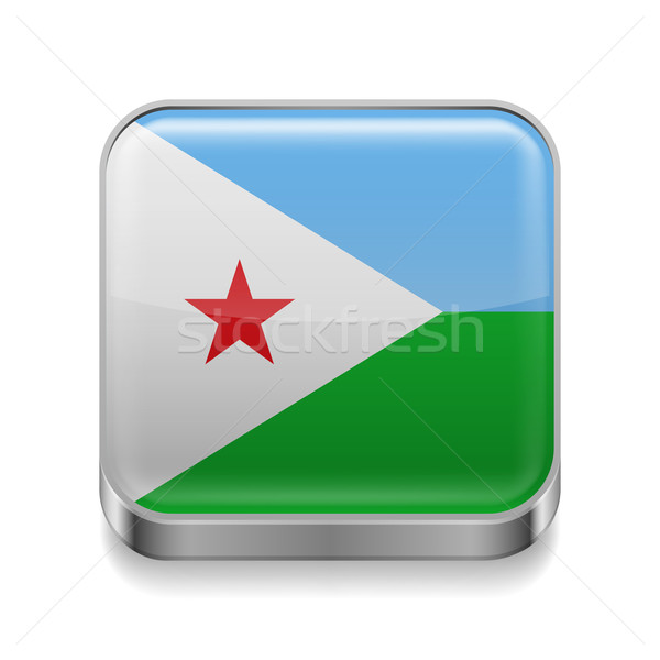 Metal  icon of Djibouti Stock photo © dvarg
