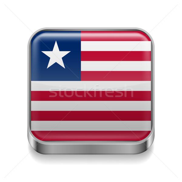 Metal  icon of Liberia Stock photo © dvarg