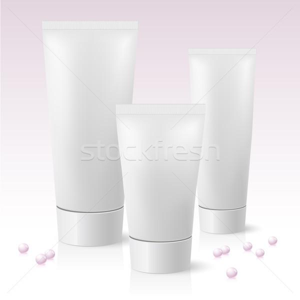 Stock photo: Three cosmetic tube