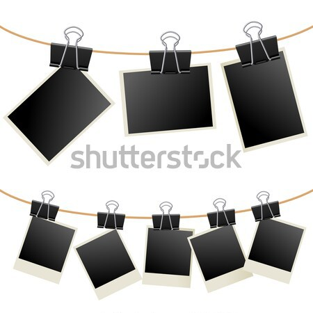 Photo Frames on Rope Stock photo © dvarg