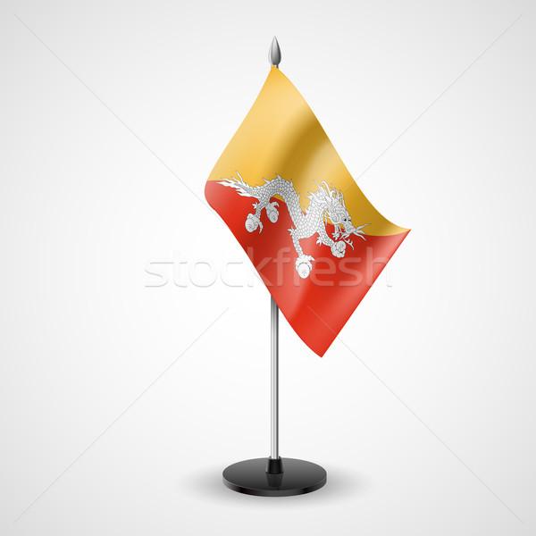 Tabela bandeira Butão mundo assinar conferência Foto stock © dvarg