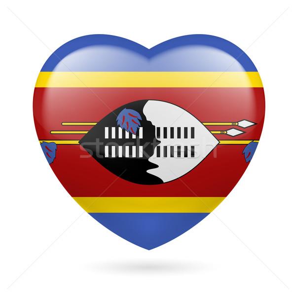 Serca ikona Suazi miłości banderą kolory Zdjęcia stock © dvarg